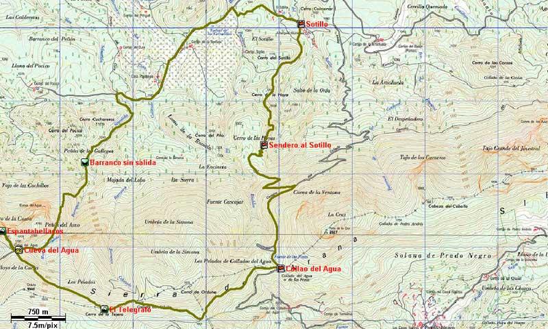 mapa Ruta Espantabellacos