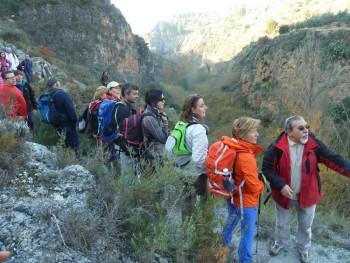 Un descendente sendero nos adentró en un microsistema natural encantado.
