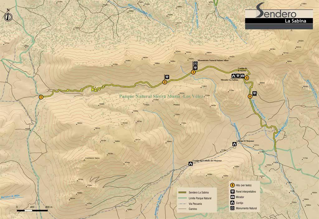 Mapa ruta Sierra María